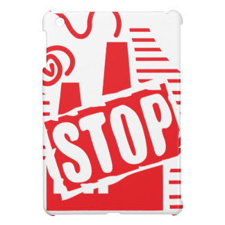 STOP FACTORY POLLUTION RED LOGO CAUSES ENVIRONMENT iPad MINI COVERS