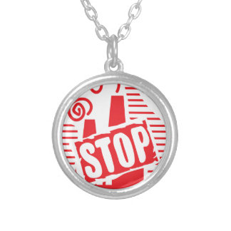 STOP FACTORY POLLUTION RED LOGO CAUSES ENVIRONMENT CUSTOM JEWELRY