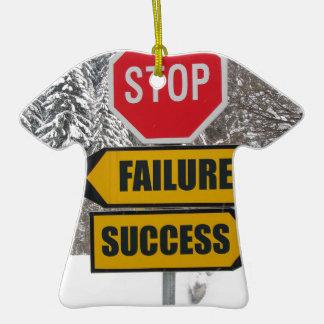 Stop failure success christmas ornaments