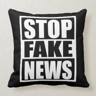Stop Fake News Throw Pillow