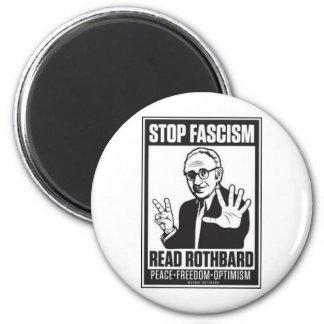 Stop Fascism 2 Inch Round Magnet