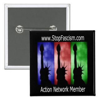 Stop Fascism Action Network Member Pin