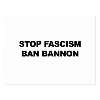 Stop Fascism, Ban Bannon Postcard