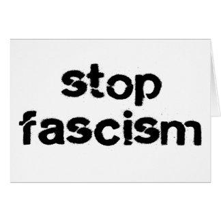 Stop Fascism Card