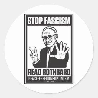 Stop Fascism Classic Round Sticker