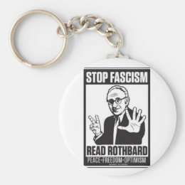Stop Fascism Keychain