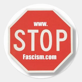 Stop Fascism stop sign Stickers