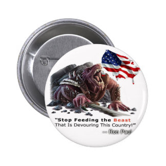 STOP Feeding the Beast 2 Inch Round Button