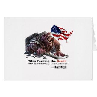 STOP Feeding the Beast Greeting Card