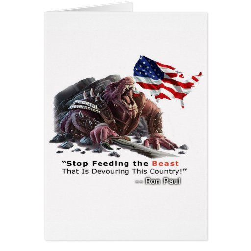 STOP Feeding the Beast Greeting Cards