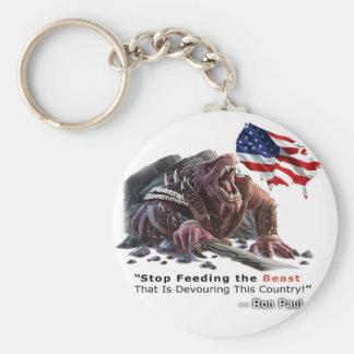 STOP Feeding the Beast Keychain