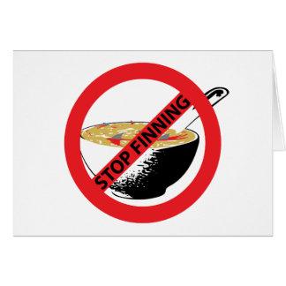 STOP FINNING SHARKS CARD