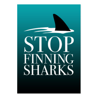 STOP FINNING SHARKS LARGE BUSINESS CARD