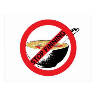 STOP FINNING SHARKS POSTCARD