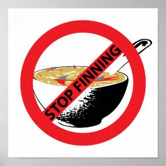 STOP FINNING SHARKS POSTER