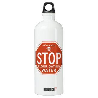 STOP FLUORIDATING WATER -fluoride/activism/protest Aluminum Water Bottle