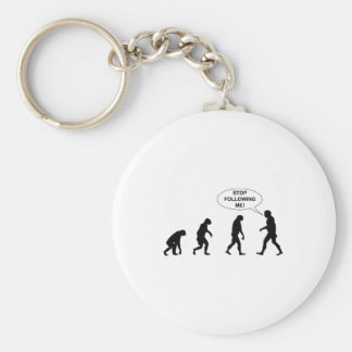 Stop Following Me Basic Round Button Keychain