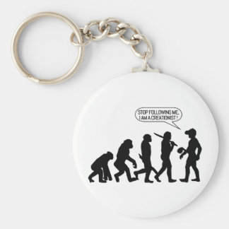 Stop following me, I'm a Creationist! Basic Round Button Keychain