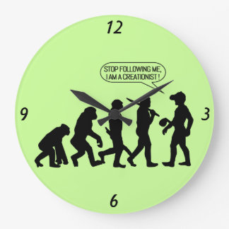 Stop following me, I'm a Creationist! Clock