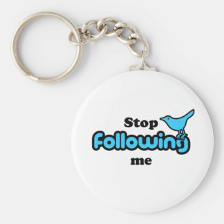 Stop following me key chain
