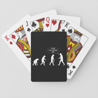 Stop Following Me Poker Cards