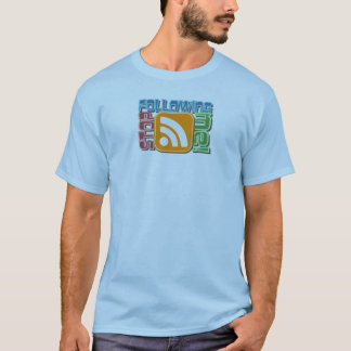 Stop Following Me! RSS Icon Button Design T-Shirt
