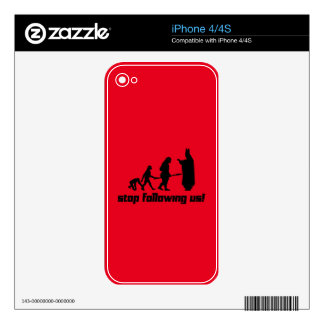 Stop following us! iPhone 4S skins