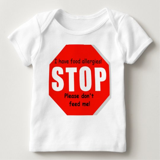 Stop Food Allergies Infant and Toddler Baby T-Shirt