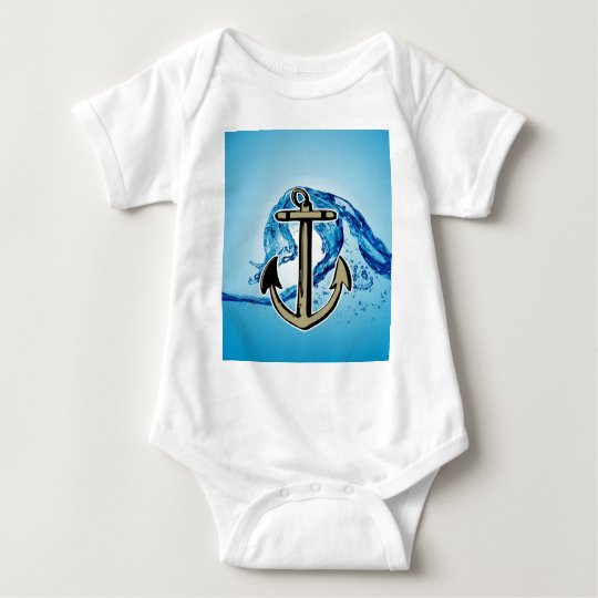 Stop for further success Anchor sailing Baby Bodysuit