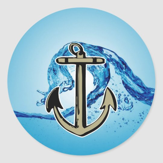 Stop for further success Anchor sailing Classic Round Sticker