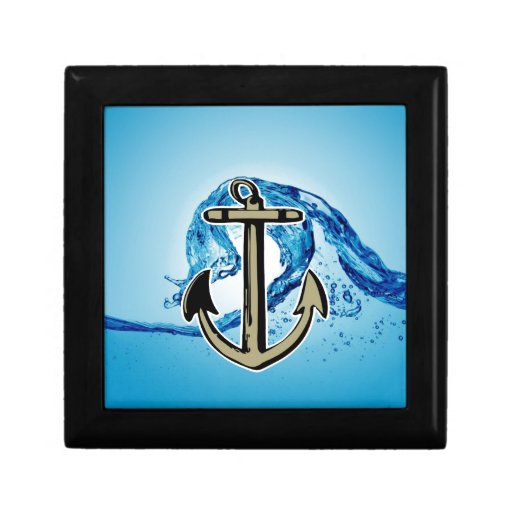 Stop for further success Anchor sailing Trinket Box