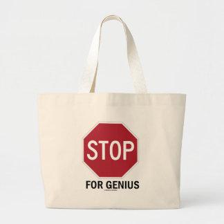 Stop For Genius (Stop Sign) Tote Bag
