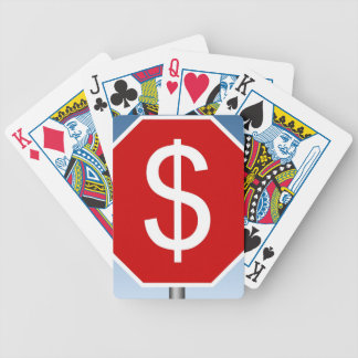 Stop For $ Mugs Bicycle Playing Cards
