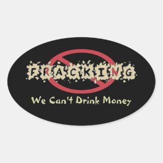 Stop Fracking Oval Sticker