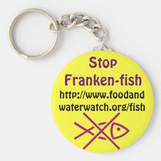 stop franken-fish keychain