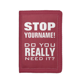 STOP! Funny custom name wallets