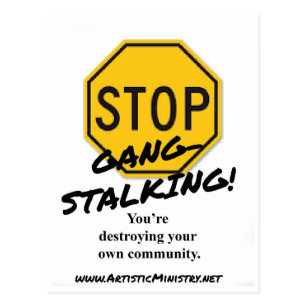 Stop Gang-Stalking POSTCARD