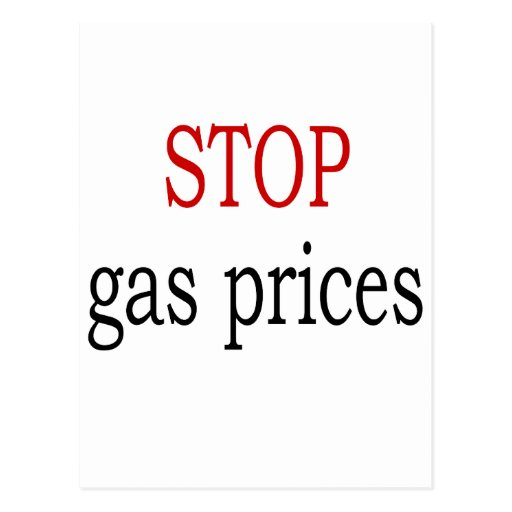 Stop Gas Prices Postcard