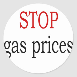 Stop Gas Prices Classic Round Sticker