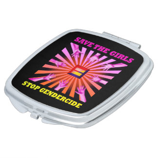 """STOP GENDERCIDE: """"SAVE THE GIRLS"""" COMACT MIRROR COMPACT MIRRORS"""