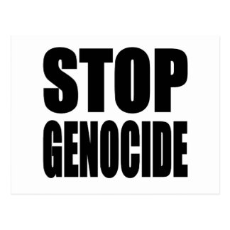 Stop Genocide. Spead The Message Postcard