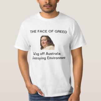STOP Gina Rinehart - Face of Greed Tee Shirt