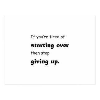 Stop Giving Up Postcard
