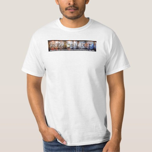 STOP GLOBAL DEATH by INDIANO Berlin Wall Art T-shirt