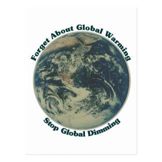 Stop Global Dimming Postcard