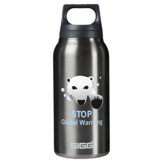 Stop Global Warming 16 oz. Insulated Water Bottle