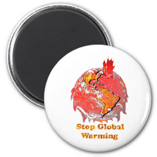 Stop Global Warming 2 Inch Round Magnet