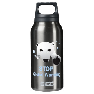 Stop Global Warming 32 oz. SIGG Thermo 0.3L Insulated Bottle