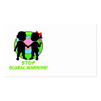 Stop Global Warming Double-Sided Standard Business Cards (Pack Of 100)