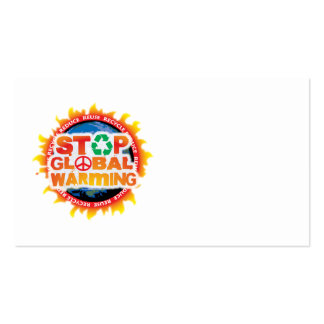 Stop Global Warming Business Card